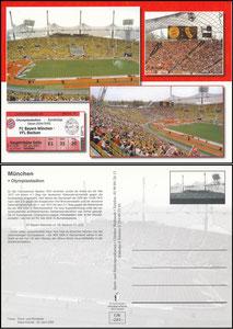 Postkarte, 2005, Olympiastadion München, Waßmuth-Karte