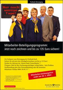 Beckenbauer, 2004, Postbank, Werbeblatt 2, A4