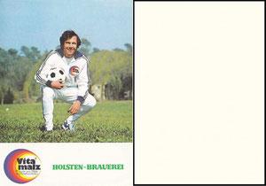 Beckenbauer, 1974, Vitamalz 'Holstgen-Brauerei', Dank an SF Norbert