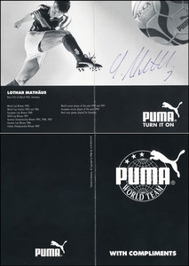 Matthäus, 1994, Puma 'World Team', Klappkarte, Motiv 2