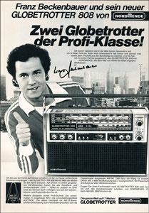Beckenbauer, 1977, Nordmende, Zeitungswerbung