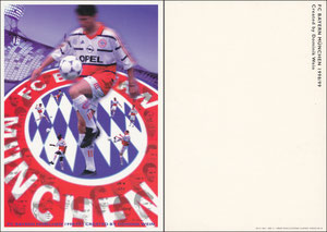 Postkarte, 1998, Künstlerkarte 'Dominik Wein' A5