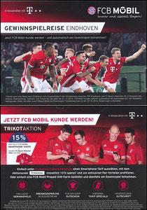 Bayern München, 2016, 10'2016, FCB Mobil 'Gewinnspielreise Eindhoven'