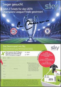 Sky, 2012, CL-Finale, signiert Beckenbauer