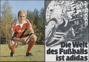 Rummenigge, 1977, Adidas 'Die Welt des Fußballs ist Adidas'