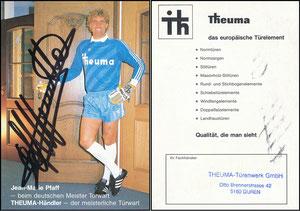 Pfaff, 1987, Theuma-Türen, blau, deutsche Karte