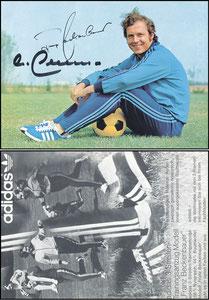 Beckenbauer, 1972, Adidas '3-Streifen-Trainingsanzug', dünne Version
