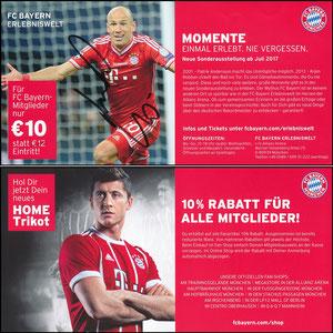 Fanshop, 2017, FanShop-Erlebniswelt, Rabatt, versendet mit Mitgliedsausweis (1), signiert Robben im März 2018