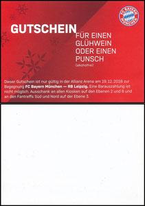 Allianz Arena, 2019, 'Gutschein' 02'2019, Kleinkarte