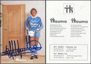 Pfaff, 1987, Thema-Türen, blau, belgische Karte