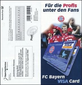 Bayerische Landesbank, 1999, Visa, Klappflyer 2, gab es nur in einer Ausgabe des Bayern Magazins