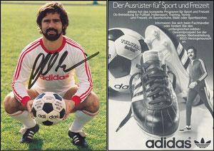 Müller, Gerd, 1977, Adidas 'Der Ausrüster für Sport und Freizeit'