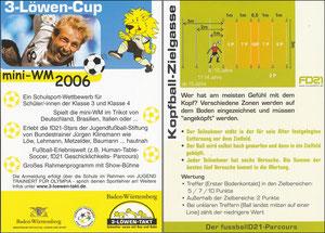 KLinsmann, 2006, 3-Löwen-Cup 'Mini WM 2006', Kleinkarte, Motiv 3