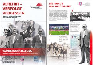Bayern Erlebniswelt, 2017, 'Verehrt, verfolgt, vergessen', Göppingen, A4