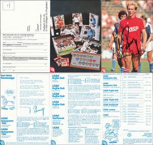 Rummenigge, 1983, Ligra, 3-fach-Klappkarte, mit Struzzi, mit Bestell-Nr., MIT Druck-AG