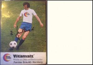 Beckenbauer, 1974, Vitamalz 'Patrizier Bräu AG, Dank an SF Norbert