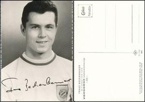 Beckenbauer, 1968, Vorsorge Lebensversicherung Berlin, mit Druck-AG