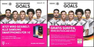 DFB, 2018, Samsung Galaxy S9, A5 Klappflyer, Variante 2, Dank an SF Robert