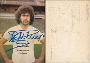 Breitner, 1976, Real Madrid, Satzkarte mit Aufdruck 'Raiffeisenbank Eschenau'
