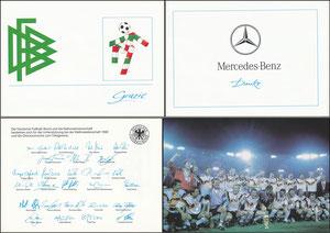 DFB, 1990, Mercedes 'Weltmeister 1990', Klappkarte