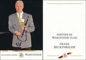 Beckenbauer, 1999, Warsteiner, Beckenbauer als Partner im WARSTEINER TEAM, von der INTERNORGA in Hamburg vom 14.03