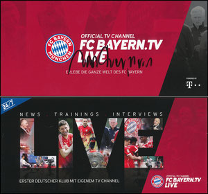 Bayern-TV, 2017, Heynckes, signiert Heynckes im Januar 2019