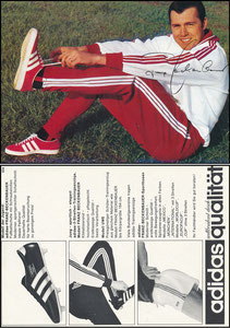Beckenbauer, 1968, Adidas 'Weltberühmt durch Qualität', Motiv 3, rücks. 3 Fotos