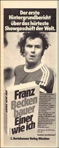 Beckenbauer, 1975, 'Einer wie ich', Zeitungswerbung