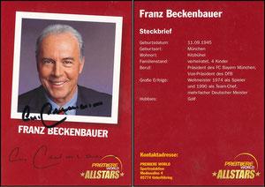 Beckenbauer, 2001, Premiere AllStars, mit Druck-AG