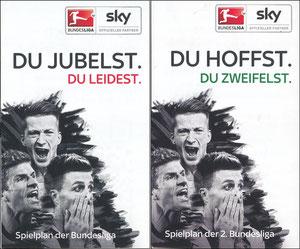 Sky, 2015, 'Spielplan 1. und 2. Liga', Klein-Folder