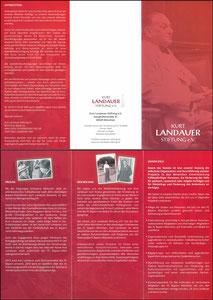 Kurt-Landauer-Stiftung, Flyer aus 2017