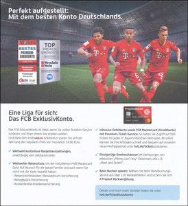 Hypovereinsbank,2019 'FCB Exclusiv-Konto', 09.2019