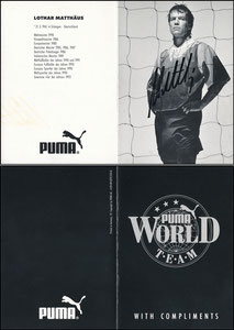 Matthäus, 1994, Puma 'World Team', Klappkarte, Motiv 1