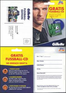 Müller, Thomas, 2014, Gillette, DM, Klappkarte