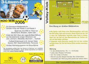 KLinsmann, 2006, 3-Löwen-Cup 'Mini WM 2006', Kleinkarte, Motiv 4