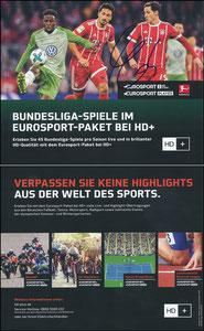 Eurosport, 2017, 12'2017, Eurosport-Player, signiert Hummels im März 2019