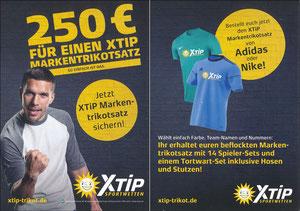 Podolski, 2018, XTip '250€ für einen XTip Markentrikoteinsatz'