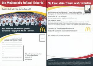 DFB, 2011, McDonalds 'WM-Eskorte', Deutschland - Uruguay