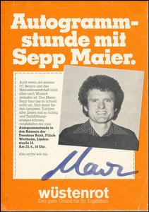Maier, 1979, Wüstenroth, A5-Ankündigungs-Karte