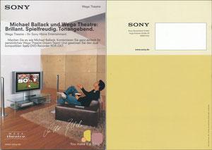 Ballack, 2004, Sony 'Wega Theatre', Booklet, A5