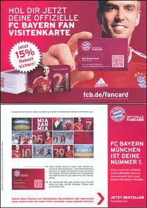 Lahm, 2013, FC Bayern 'Fan-Card', A5