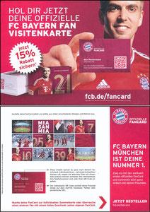 Lahm, 2013, FC Bayern 'Fan-Card', A5
