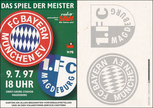 Mannschaftskarte 1997, 'Bayern-Magdeburg', Motiv 2