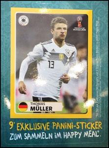 DFB, 2018, Panini-Aufkleberkarte, Müller, Dank an SF Norbert