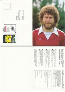 Breitner, 1982, Buchbestellung 'Kopf-Ball' und 'WM 1982', Klappkarte