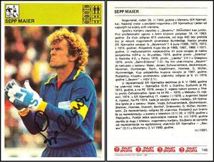 Maier, 1981, yugoslawische Sammelkarte