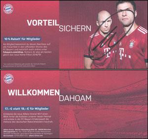 FanShop, 2018, Gutschein 'Vorteil sichern', versendet mit Mitgliedsausweis (07'2018), signiert Müller im Jan. 2019