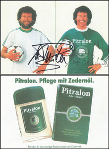Breitner, 1982, Pitralon, Klappkarte -Bildteil-, kpl. Klappkarte gesucht. Achtung Fake-Karten im Umlauf!