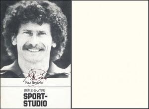 Breitner, 1982, Breuninger Sportstudio, Großkarte
