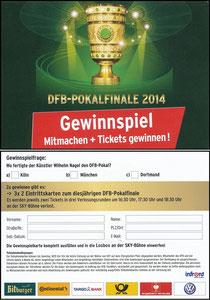 Sky, 2014, DFB-Pokalfinale, Gewinnspiel
